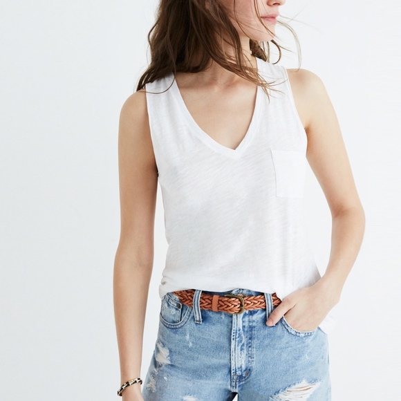 8e25b87e391c4 Madewell Tops - Madewell Whisper Cotton V-Neck Pocket Tank